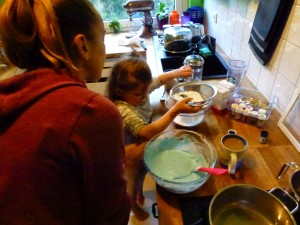 Making A Cake With The Girls